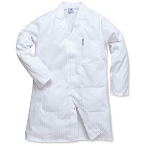 Image of Portwest Hygiene & Warehouse Coat / Medium / White