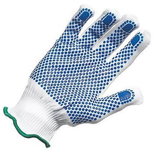 Image of Polka Dot Gloves / EN420 & EN388 Certification / Medium / Blue / 12 Pairs