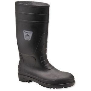Image of Steelite Safety Wellington Boots / Size 8 / Black