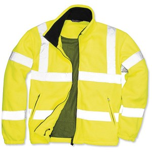 Image of Portwest High Visibility Fleece Jacket with Zipped Pockets / Extra Large / Yellow