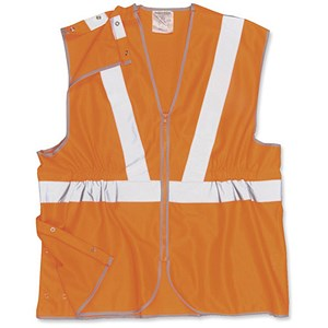 Image of Portwest High Visibility Railtrack Waistcoat Vest / Large / Orange