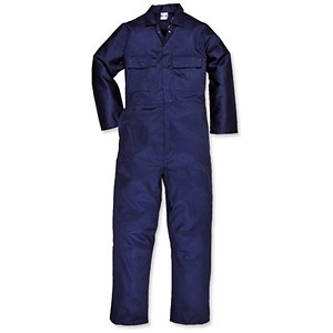 Image of Portwest Stud Front Coverall with Multiple Pockets / Navy / Medium