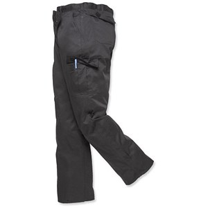 Image of Portwest Combat Trousers / Tall 38in / Black