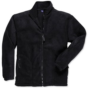 Image of Portwest Heavy Fleece Jacket with Zipped Pockets / Large / Black