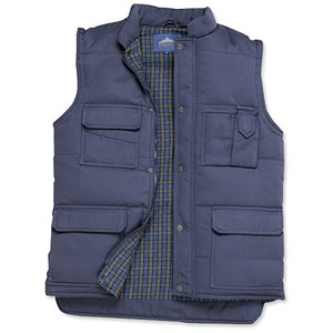 Image of Portwest Body Warmer with Pockets / Navy / Large