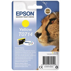 Image of Epson T0714 Yellow DURABrite Inkjet Cartridge