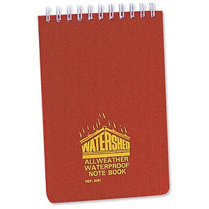 Image of Chartwell Watershed Waterproof Book / 101x156mm / Wirebound & Ruled / 50 Leaf