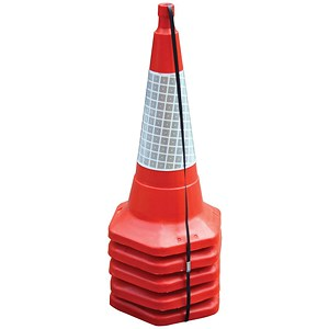 Image of Safety Cones / Standard / H750mm / Sealbrite Sleeve / Pack of 5