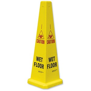Image of Collector Caution Cone for Wet Floors Stackable Height 900mm