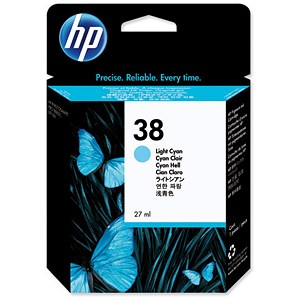 Image of HP 38 Light Cyan Ink Cartridge