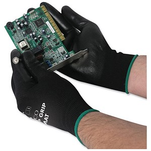 Image of Polyco Matrix P Grip Gloves / Tight-fit / Size 8 / Black / 12 Pairs