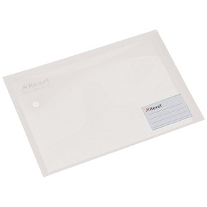 Image of Rexel Carry Xtra Folders / Landscape / Extra Back Pocket and Card Holder / A4 / White / Pack of 5