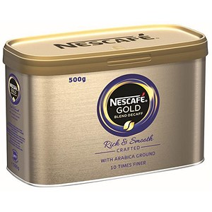 Image of Nescafe Gold Blend Instant Decaffeinated Coffee - 500g Tin
