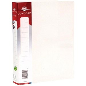 Image of Concord Natural Ring Binder / 2 O-Ring / 30mm Spine / 15mm Capacity / A5 / Clear / Pack of 10