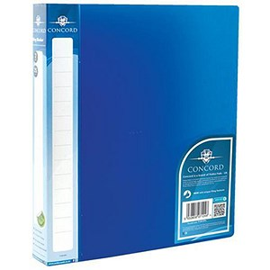 Image of Concord Executive Ring Binder / 2 O-Ring / 40mm Spine / 25mm Capacity / A4 / Blue / Pack of 10