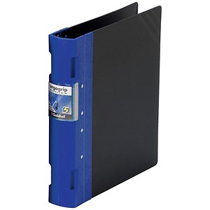 Image of Guildhall GLX Ergogrip Binder / A4 / 4x 2 Prong / 40mm Capacity / Blue / Pack of 2