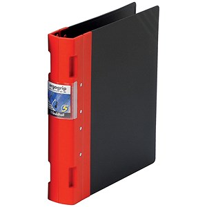 Image of Guildhall GLX Ergogrip Binder / A4 / 4x 2 Prong / 40mm Capacity / Red / Pack of 2