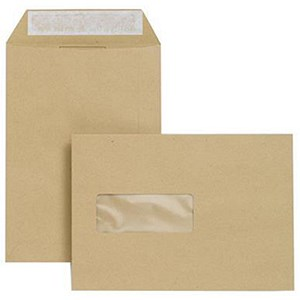 Image of Basildon Bond C5 Envelopes / Window / Manilla / Peel & Seal / 90gsm / Pack of 500
