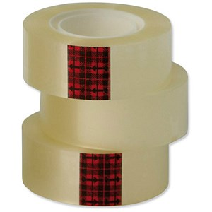 Image of Scotch Easy Tear Transparent Tape / 24mmx33m / Pack of 6