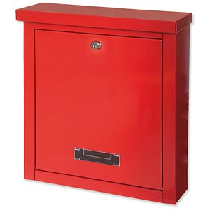 Image of Letterbox Opening for A4 Documents - Red