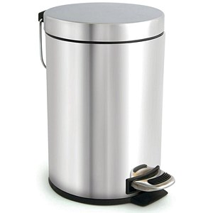 Image of Pedal Bin / Removable Inner Bucket / 3 Litre / Stainless Steel