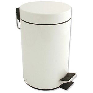 Image of Pedal Bin / Removable Inner Bucket / 3 Litre / White