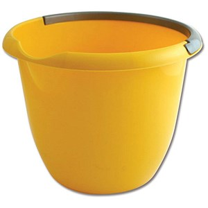 Image of Plastic Bucket with Pouring Lip / 10 Litre / Yellow