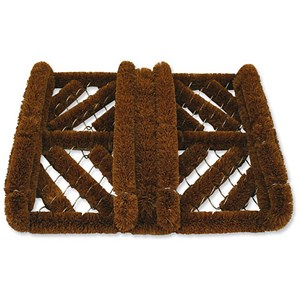Image of Bentley Heavy Duty Boot Scraper Door Mat / Coir & Metal / 400x500mm