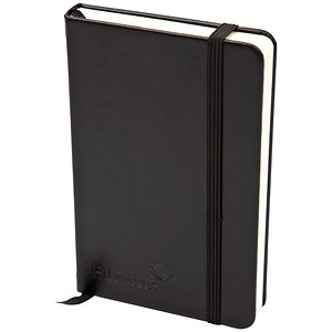 Image of Silvine Executive Soft Feel Notebook / A5 / Ruled with Marker Ribbon / 160 Pages / Black