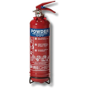Image of IVG Firechief Fire Extinguisher Refillable Dry Powder for Class A and B and C 1Kg Ref IVGS1.0KG