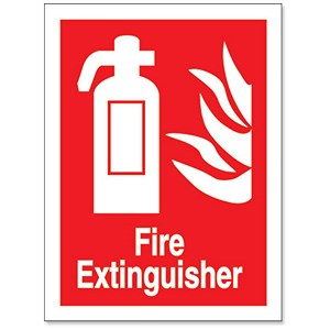 Image of Stewart Superior Sign Self-adhesive Vinyl - Fire Extinguisher - 200x150mm Ref NS013