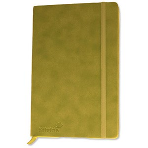 Image of Silvine Executive Soft Feel Notebook / A5 / Ruled with Marker Ribbon / 160 Pages / Lime Green