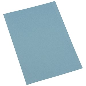 Image of 5 Star Square Cut Folder / Recycled / Pre-punched / 250gsm / A4 / Blue / Pack of 100