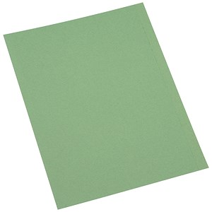 Image of 5 Star Square Cut Folder Recycled Pre-punched 250gsm A4 Green [Pack 100]