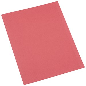 Image of 5 Star Square Cut Folder / Recycled / Pre-punched / 250gsm / A4 / Red / Pack of 100