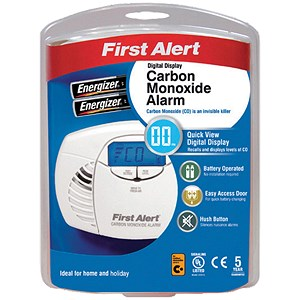 Image of First Alert Carbon Monoxide Detector Alarm LED and Fittings 85dB Ref FT0409