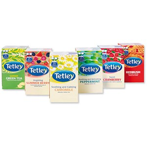 Image of Tetley Fruit and Herbal Tea Bags Variety Boxes - 6 Boxes of 25