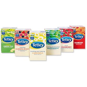 Image of Tetley Tea Bags Fruit and Herbal Variety Box - Pack of 6 - Order over £499