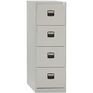 Image of Trexus 4-Drawer Filing Cabinet / Foolscap / Grey