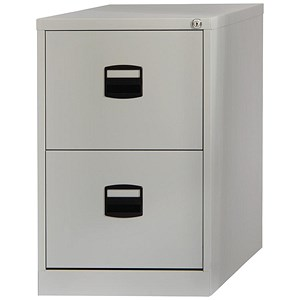 Image of Trexus 2-Drawer Filing Cabinet / Foolscap / Grey