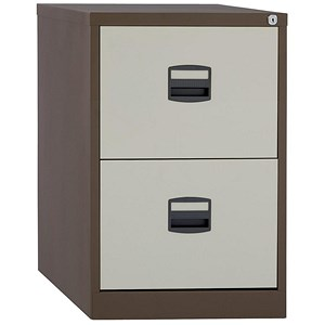 Image of Trexus 2-Drawer Filing Cabinet / Foolscap / Brown & Cream