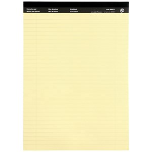 Image of 5 Star Executive Pad / A4 / Ruled & Perforated Yellow Paper / 50 Sheets / Pack of 10