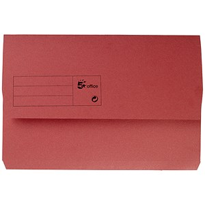 Image of 5 Star Document Wallets Half Flap / 285gsm / Foolscap / Red / Pack of 50