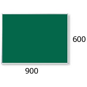 Image of 5 Star Noticeboard / Aluminium Trim / W900mmxH600mm / Green
