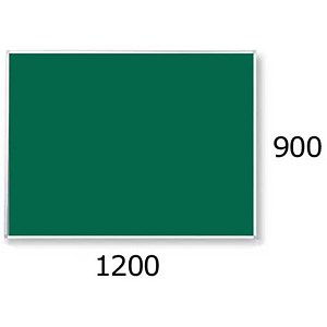Image of 5 Star Noticeboard / Aluminium Trim / W1200mm x H900mm / Green