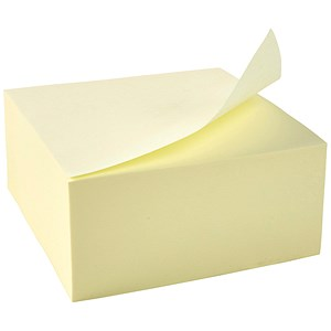 Image of 5 Star Re-Move Notes Cube / 76x76mm / Yellow / 400 Notes per Cube