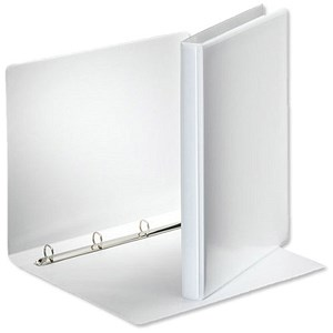 Image of Esselte Presentation Ring Binder / 4 O-Ring / 30mm Spine / 15mm Capacity / A4 / White / Pack of 10