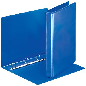 Image of Esselte Presentation Binder / A4 / 4 D-Ring / 25mm Capacity / Blue / Pack of 10