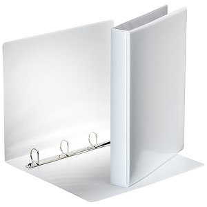 Image of Esselte Presentation Ring Binder / 4 D-Ring / 40mm Spine / 25mm Capacity / A4 / White / Pack of 10