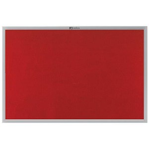 Image of Nobo Euro Plus Noticeboard / Aluminium Trim / W1226xH918mm / Red